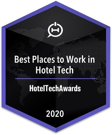 2020 Best Places to Work Badge for the HotelTechAwards