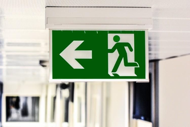 Hotel emergency exit
