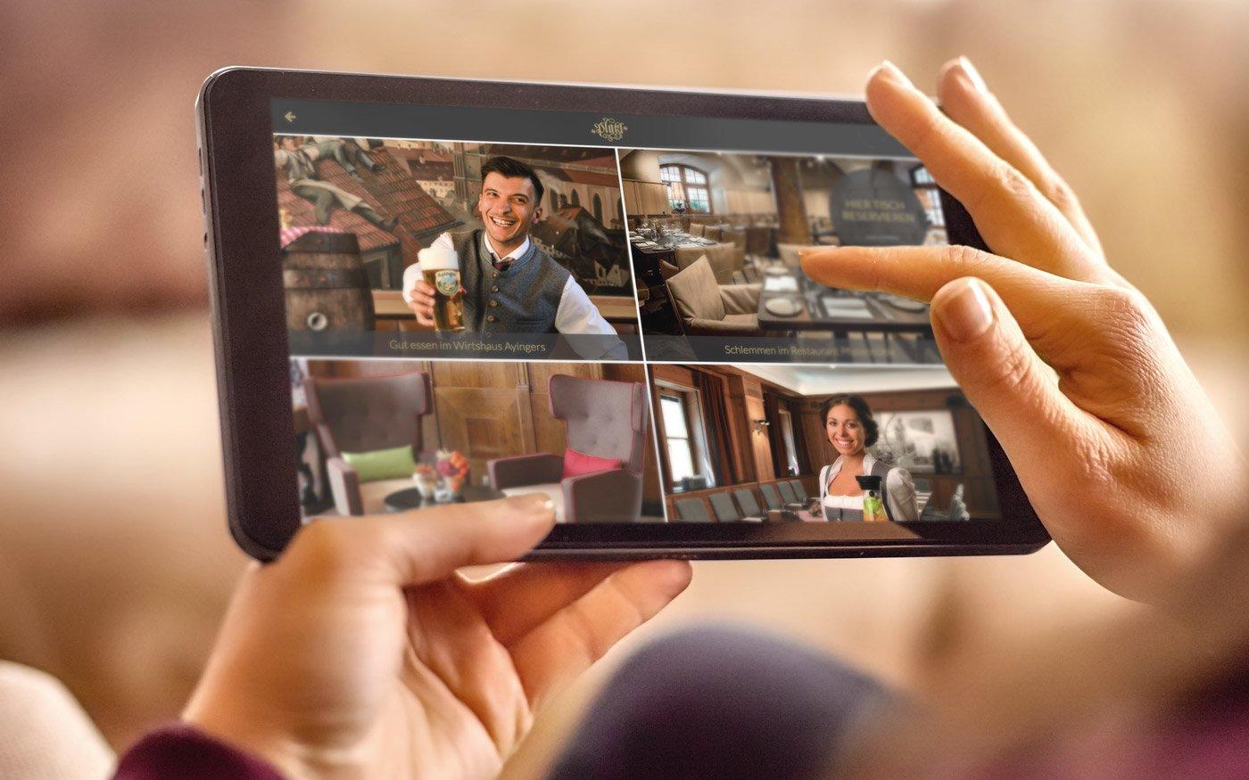 Technische Ausstattung der digitalen Gästemappe