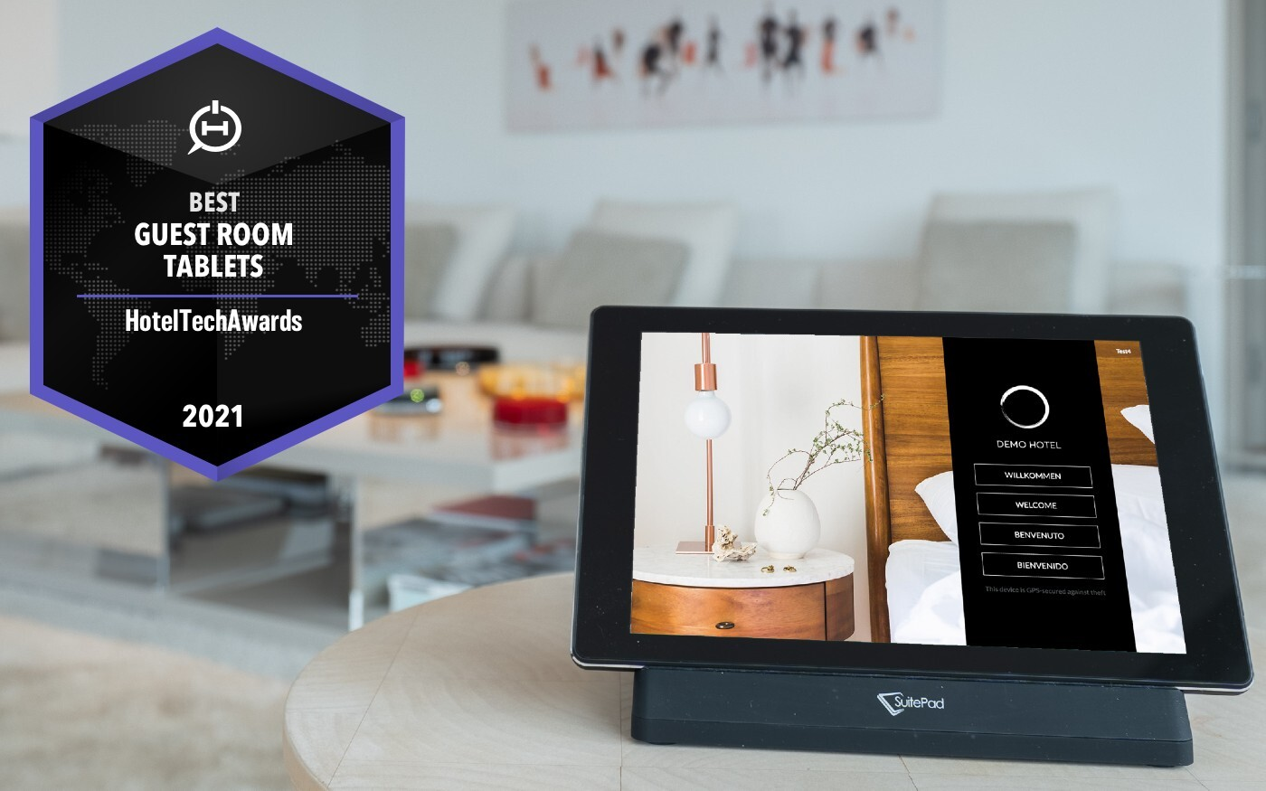 SuitePad win 2021 HotelTechAward